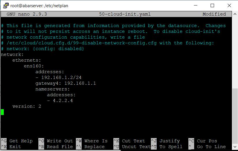 تنظیمات شبکه در اوبونتو 18